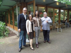 Research Academy summer party - Peter, Mia, Siavush and Paul