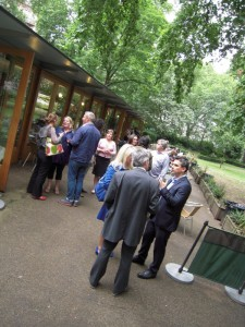 Research Academy summer party - enjoying the weather