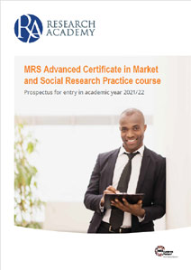 Research Academy MRS Advanced Certificate prospectus cover